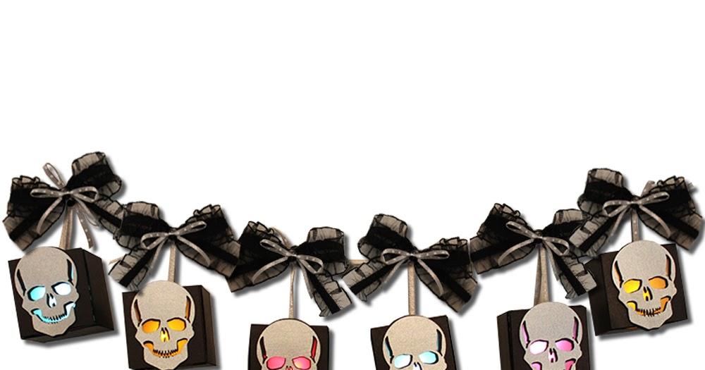 Jmrush Designs Skull Tea Light Banner Flameless