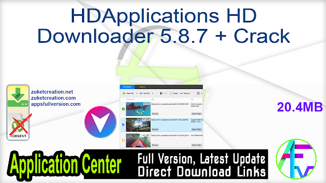 HDApplications HD Downloader 5.8.7 + Crack