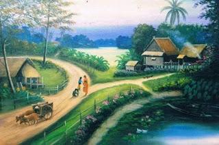 suasana pedesaan jaman dahulu