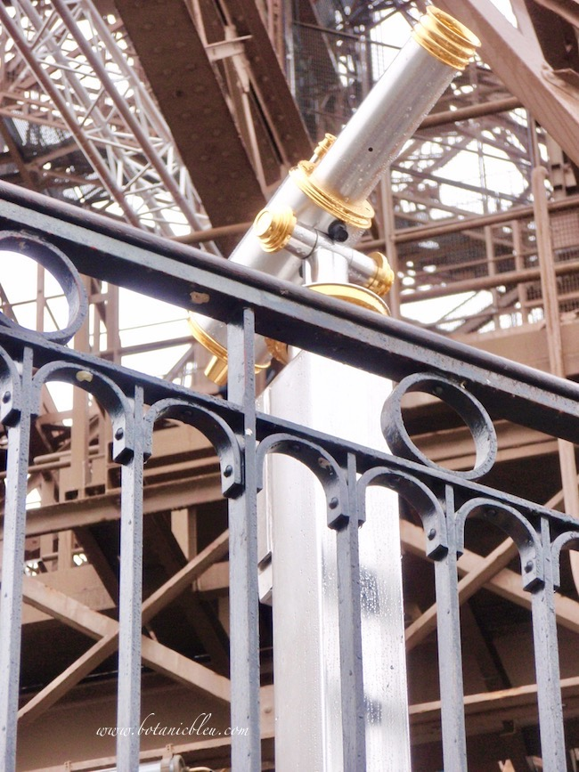 Eiffel Tower gold and silver telescopes were unexpected highlights of a tour of the Tower
