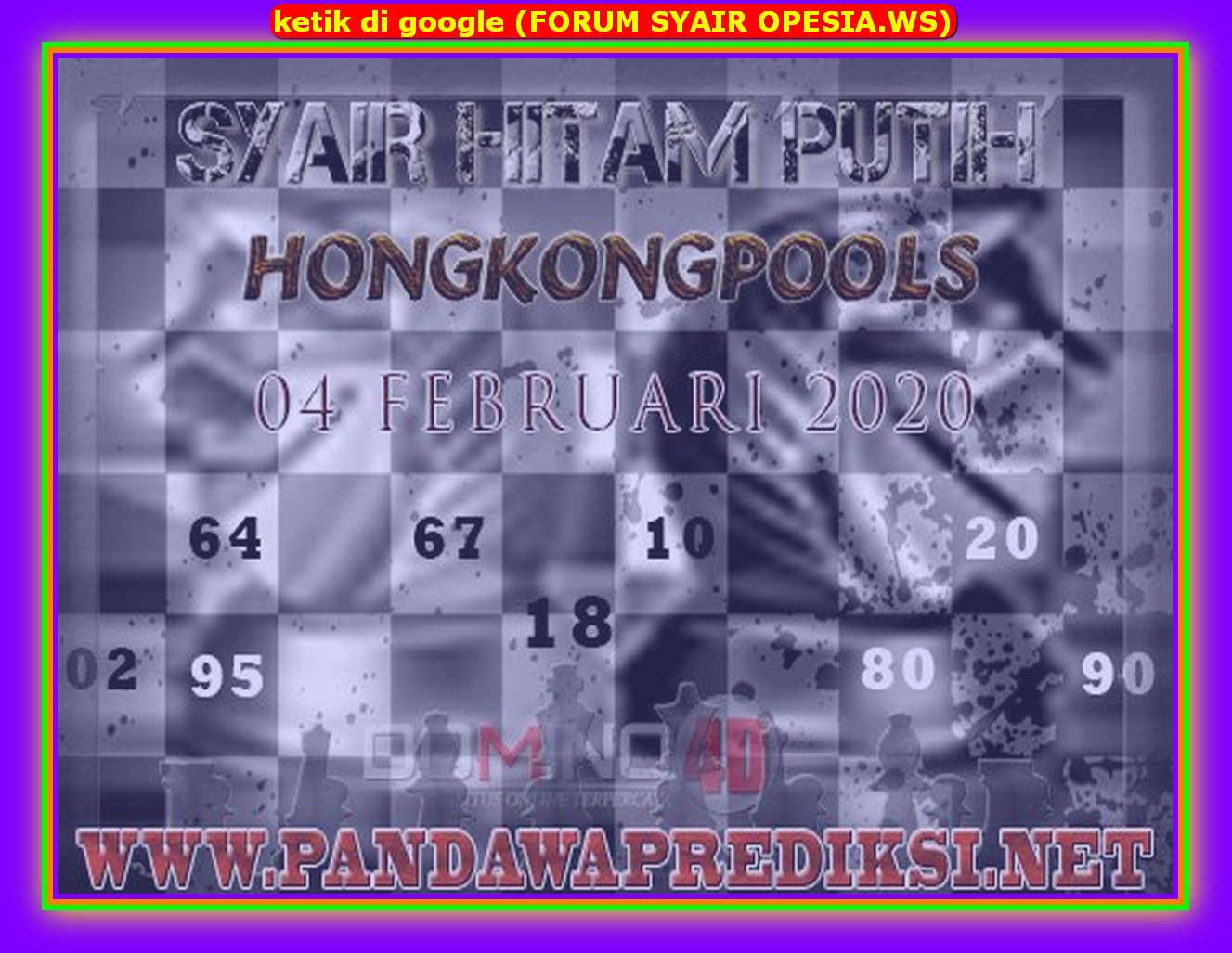 Kode syair Hongkong Selasa 4 Februari 2020 172