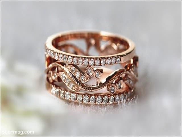 اشكال محابس ذهب 11   Gold Engagement Rings Forms 11