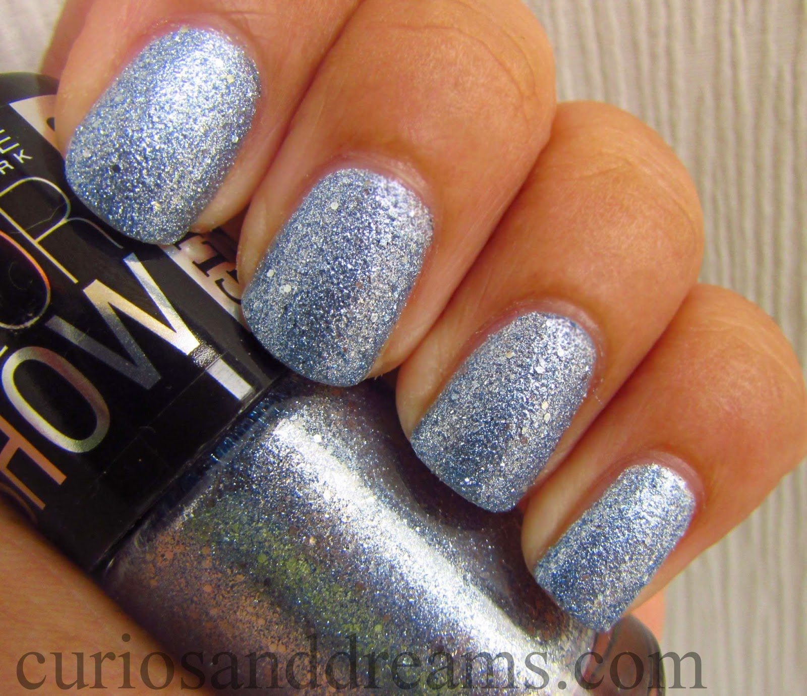 Maybelline Color Show Glitter Mania Bling on the Blue review, Maybelline Bling on the Blue swatch