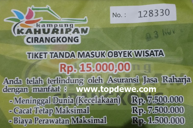 Harga tiket masuk wisata kampung kahuripan cirangkong purwakarta