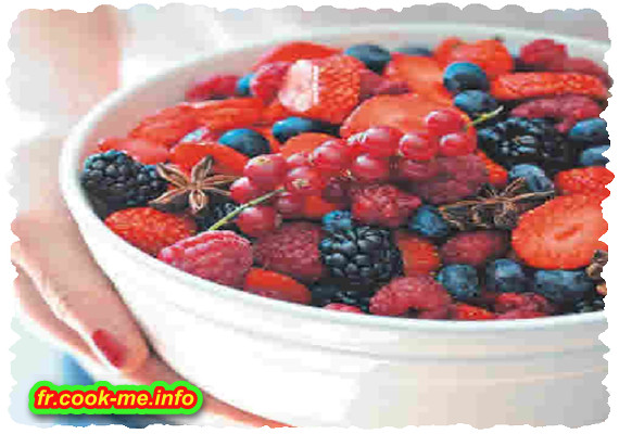 Salade de fruits rouges à l'anis