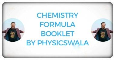 Chemistry formula sheet by Physics wallah