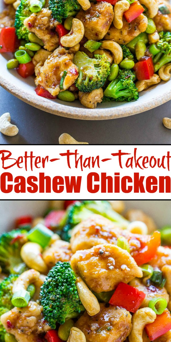 Better-Than-Takeout Cashew Chicken #chickenrecipes