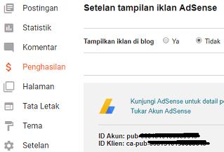 Pasang Iklan Adsense Online Di Blog