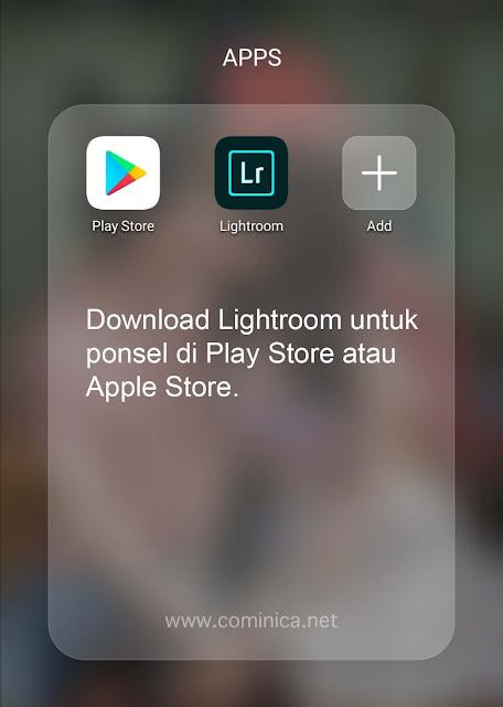 cara instalasi lightroom ponsel preset