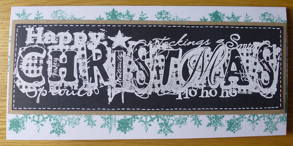 Ho Ho Ho Christmas Card using Woodware Stamps