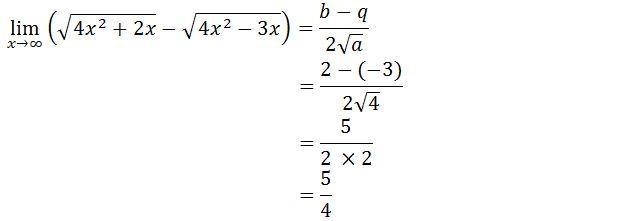 Jawaban Contoh Soal Limit Tak Hingga