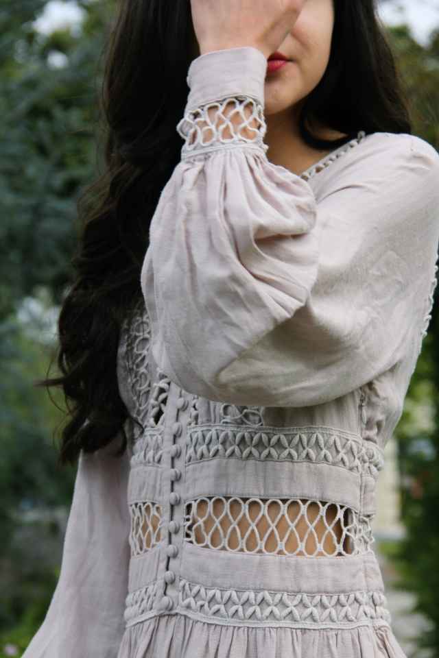 free people i think i love you lattice dress nude beige boho bohemian lace