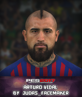 PES 2017 Faces Arturo Vidal by Judas