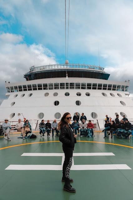 Alicia Mara on Helipad Celebrity Millennium Cruise | Ketchikan Travel Guide