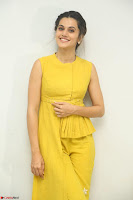 Taapsee Pannu looks mesmerizing in Yellow for her Telugu Movie Anando hma motion poster launch ~  Exclusive 084.JPG