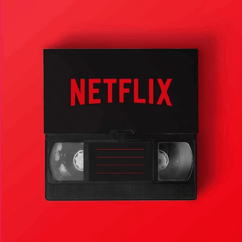 A VHS tape for Netflix