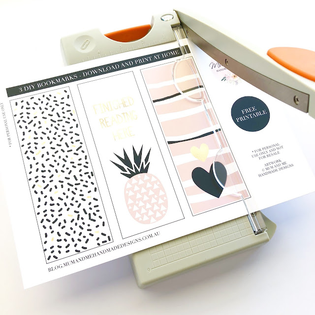 3 DIY Bookmarks - Free Printable by Mum and Me Handmade Designs
