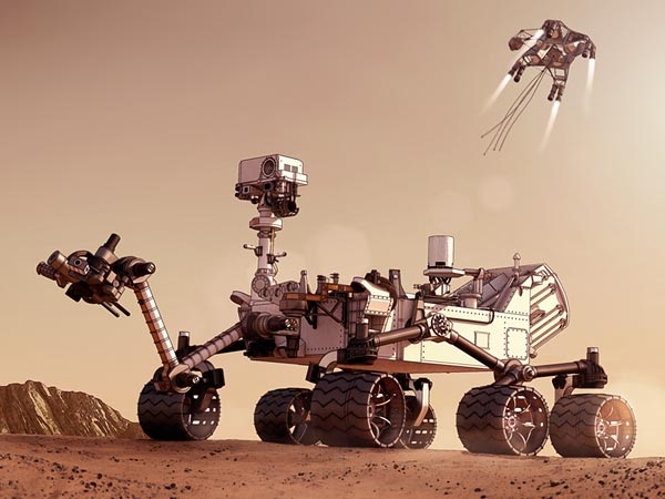 mars rover sky crane-#22