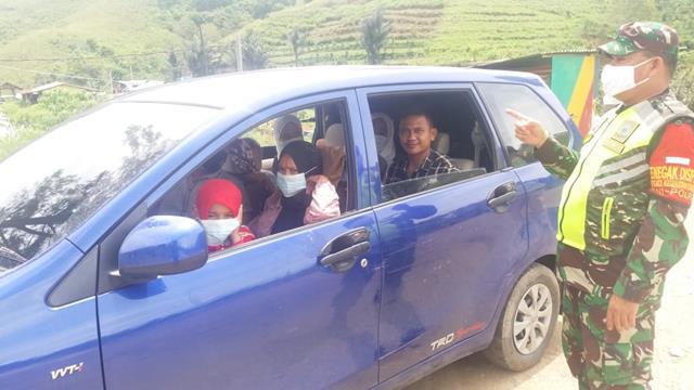 Penegakan Disiplin Protokol Kesehatan Dilaksanakan Personel jajaran Kodim 0207/Simalungun