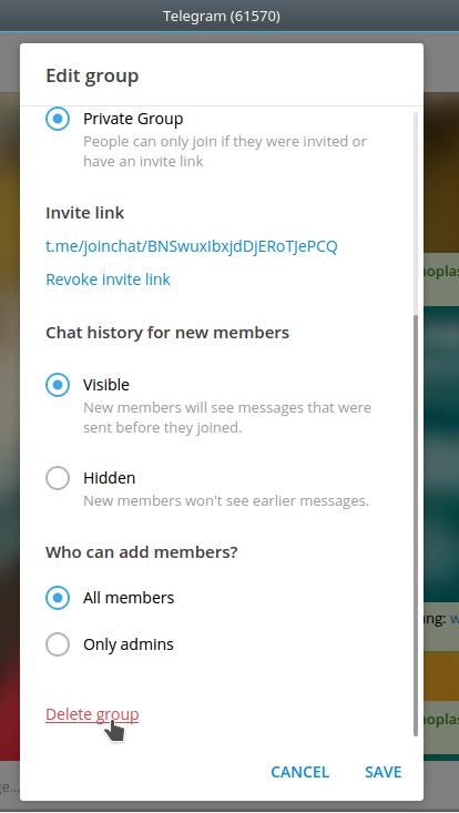 Ubuntu Buzz !: How To Delete Telegram Groups Permanently