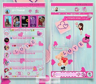 Love Theme For YOWhatsApp & KM WhatsApp By Thania