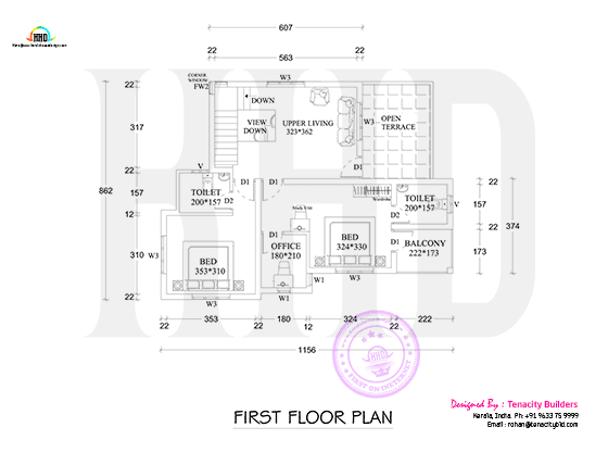 Drawing of first floor