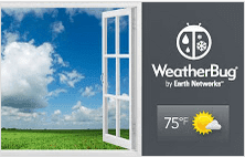 Weather extension for Google Chrome