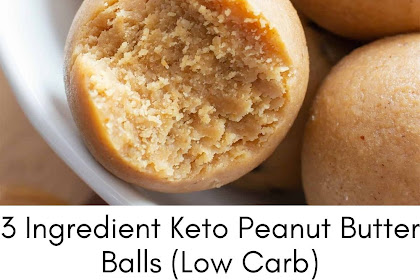 3 Ingredient Keto Peanut Butter Balls (Low Carb)