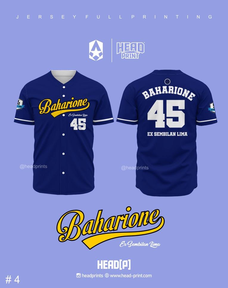 Gangsters Jersey Baseball Full Printing - Contoh Desain Jersey Baseball