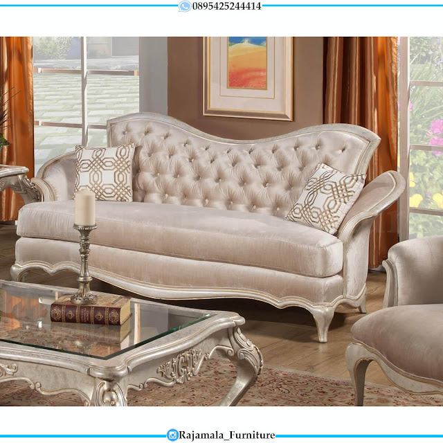 Desain Kursi Sofa Tamu Mewah Ukir Jepara Luxurious Classic Furniture RM-0607
