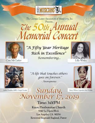 50th G.L.A.M. Annual Memorial Concert