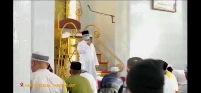 Di Masjid Azulfa, Bupati Imbau Masyarakat Tetap Patuhi Prokes