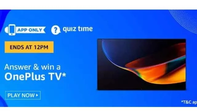 Amazon Oneplus TV Quiz Answers - Win Oneplus TV