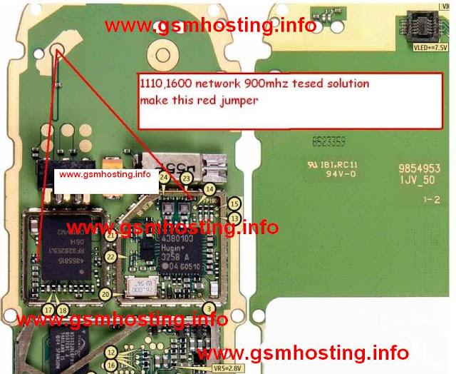 Nokia 1616 signal problem jumper solution