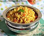 Kuthiraivali Carrot Rice, Barnyard Millet Carrot Rice