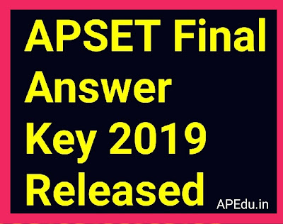 APSET Final Answer Key 2019 Released