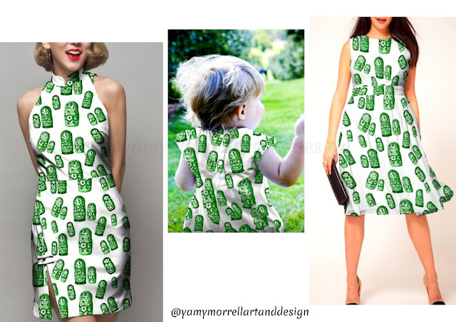 Green-Pattern-Matrioskas-design-by-yamy-morrell