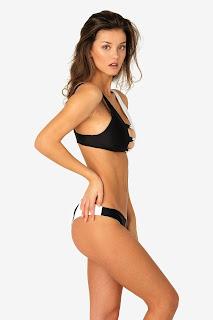Nicola Cavanis In Black Bikini