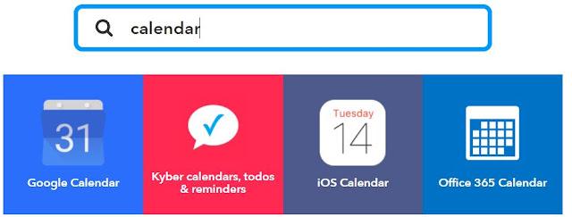 Google, iOS oder Office 365 Kalender können gewählt werden
