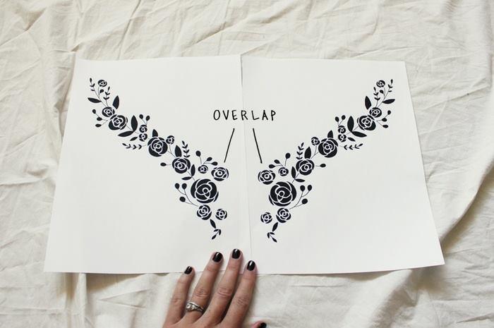 Thiết kế hình cần thêu in ra giấy