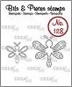 Set van 2 clearstempeltjes om libellen te stempelen. Set of 2 clearstamps to stamp dragonflies.