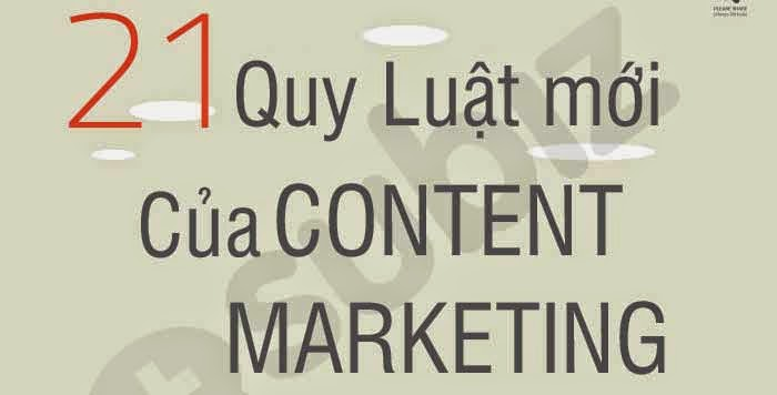 [Infographic] 21 Quy luật mới của Content Marketing