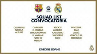 Benzema, Ramos & Modric lead Madrid's Clasico squad as Hazard & Marcelo out