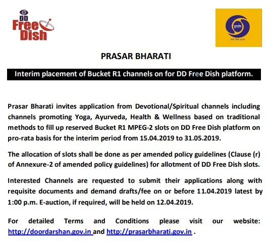 Interim placement of Bucket R1 channels on for dd direct dth platform.