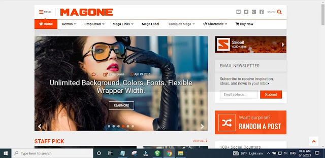 New MagOne Blogger Template Main Features