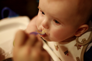 Image: Anderson eating baby food, by Brian Brodeur (mightyb), on Flickr