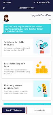 cara upgrade Aplikasi pede Android