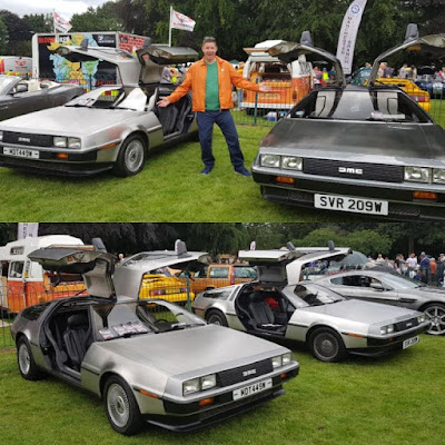 DeLoreans at the 2019 Didsbury & South Manchester Car Show
