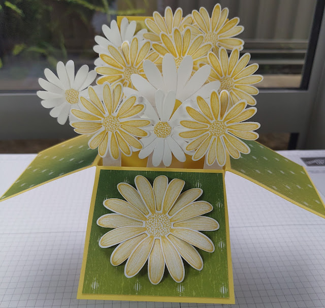 Stampin' Up Box of Daisies Card Daffodil Delight