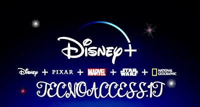 Disney+ Pixar, Marvel, Star Wars, National geographic  con Tecnoaccess